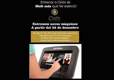 A Orión estrenem noves màquines a partir del 29 de desembre!!!