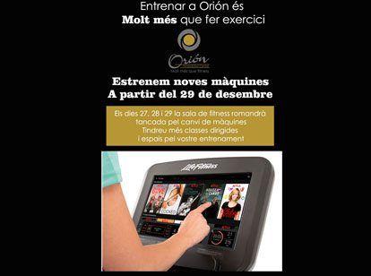 En Orión estrenamos nuevas máquinas a partir del 29 de diciembre !!!