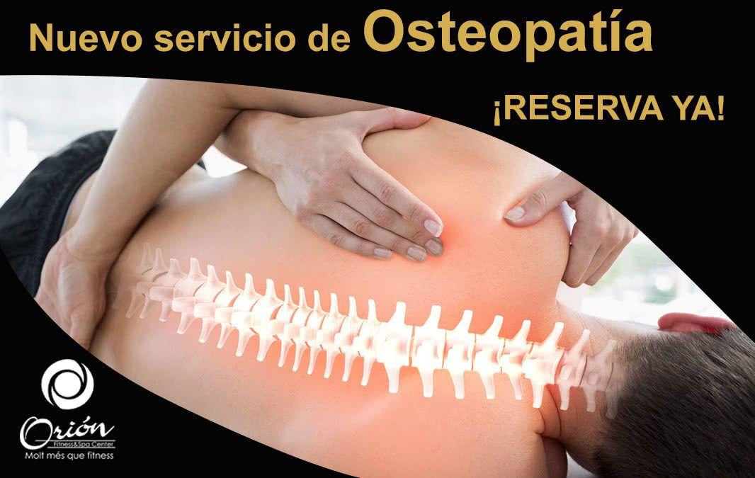 Estrenem nou servei: Osteopatia